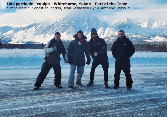 A part of the crew at Whitehorse